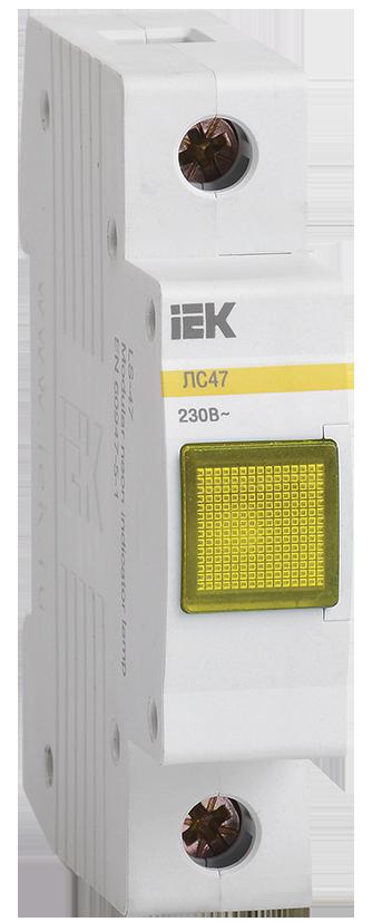 Лампа сигнальная ЛС-47 неон желтая IEK по цене 147 руб. в фирменном магазине IEK в России